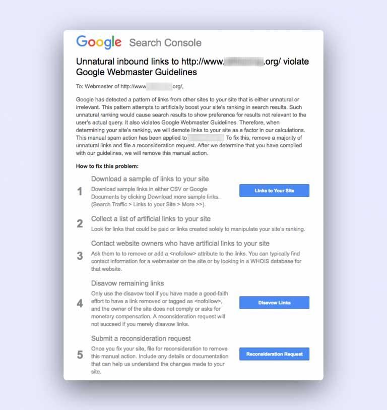 مجازات گوگل برای کلاه سیاه