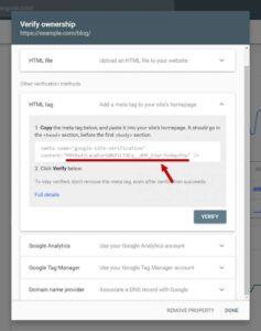 تایید کردن وب سایت برای کنسول جستجوی گوگل